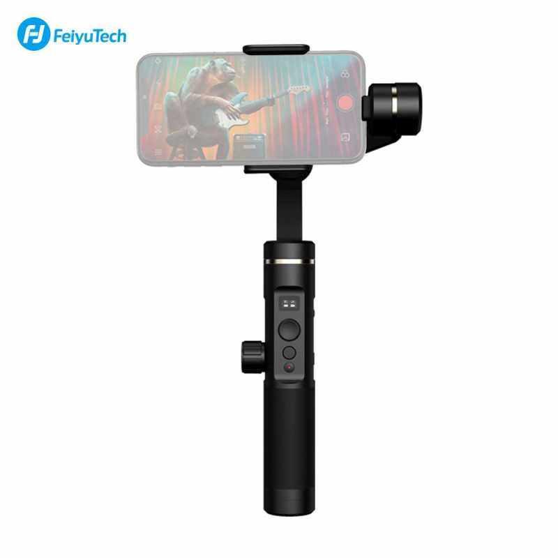 Airsky Feiyu Tech SPG2 3-Axis Stabilized Gimbal Genggam Anti-percikan Stabilizer dengan Tripod untuk iPhone X/8/7/6 untuk samsung GALAXY S9 GoPro Telepon Pintar 7/6/5/4 Olahraga Kamera