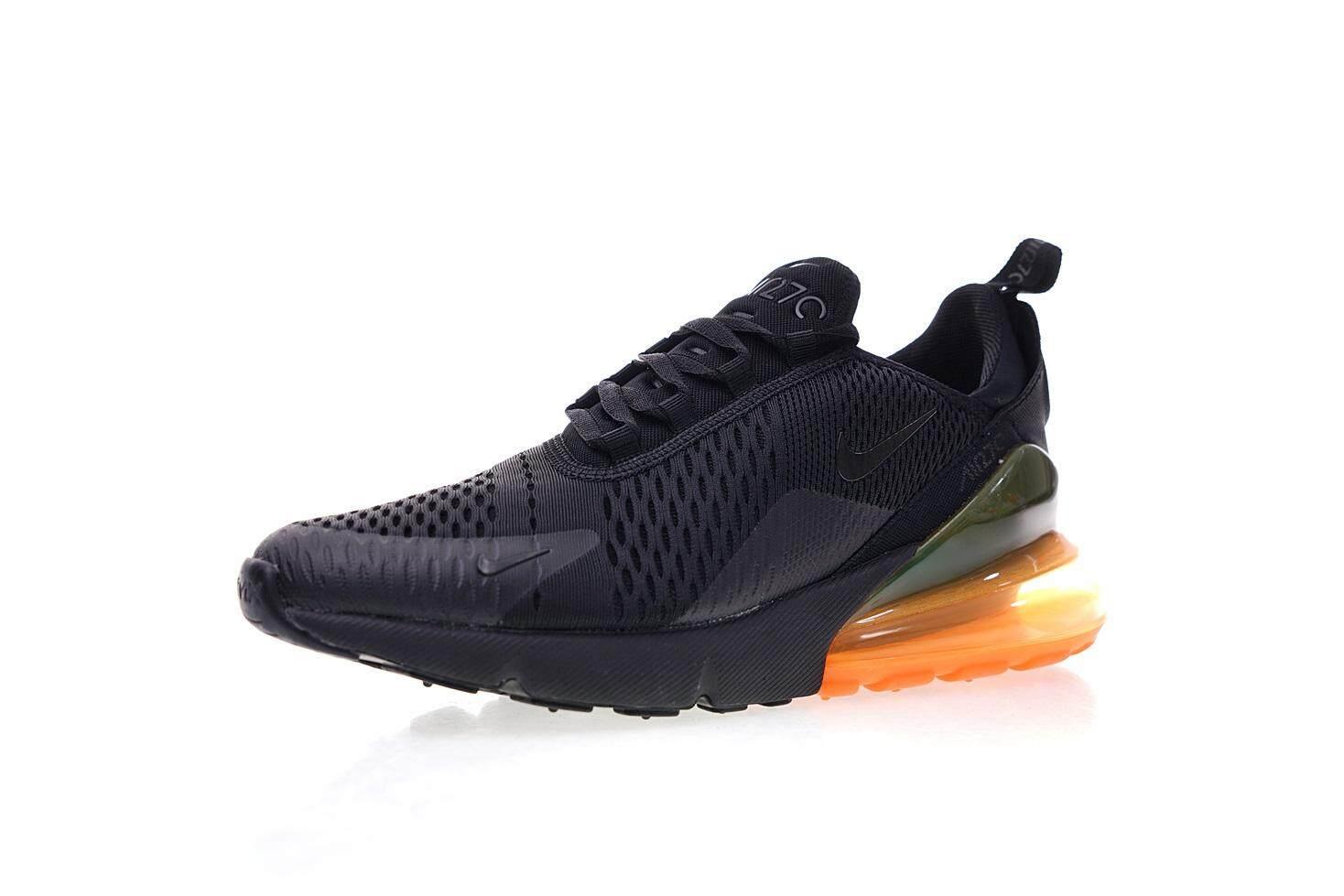 Nike Air Max 270 Men s Comfortable Running Sneakers Training Sport Shoes ( Black Orange) 3359d2ae7