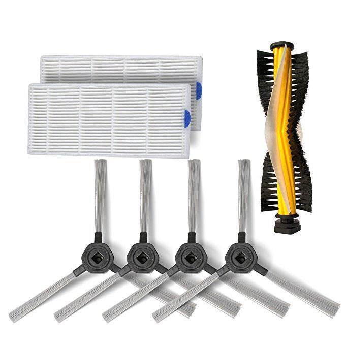 ราคาของ  Dibea วัสดุสิ้นเปลืองอุปกรณ์ชุดอะไหล่สำหรับ Dibea D960 เครื่องดูดฝุ่นหุ่นยนต์, 3 ล้างเครื่องกรอง HEPA, แปรงด้านข้าง 2 คู่, แปรง 1 แปรงแปรงลูกกลิ้ง ซื้อเว็บไหนไม่โกง