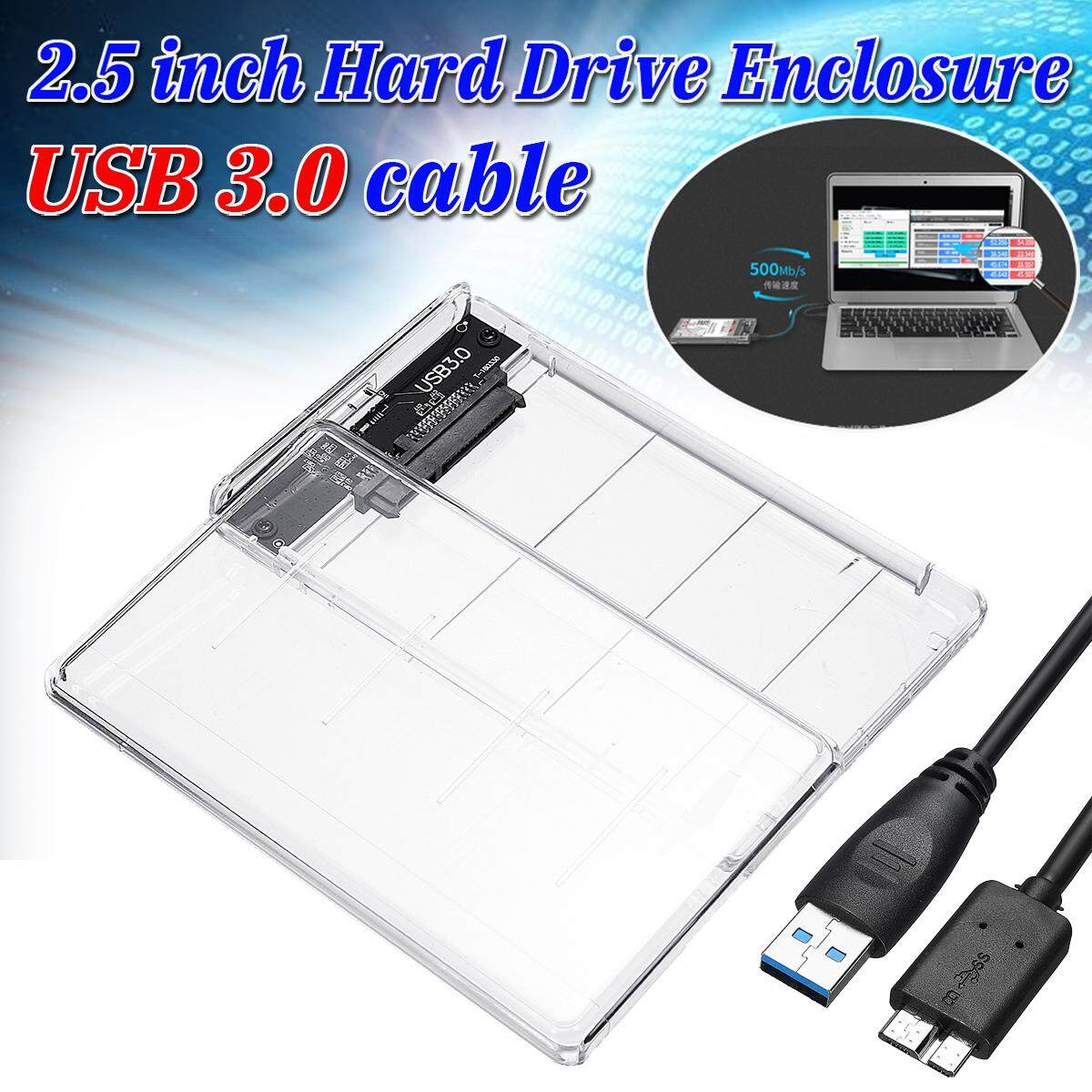 "USB 3.0 to SATA Hard Drive Enclosure Caddy Case For 2.5"" Inch HDD / SSD"