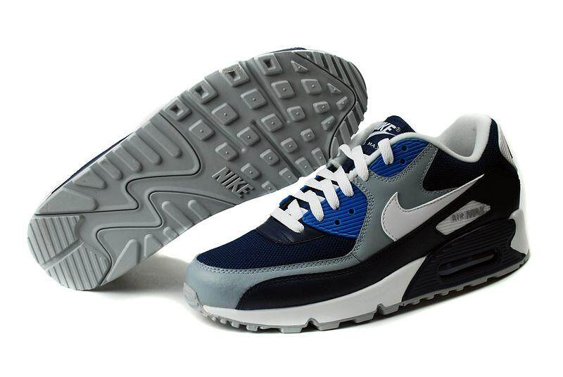 hot sale online 952c9 34c07 Nike Air Max 90 Men s Running Shoes Fashion Sports Shoes (Blue Grey)