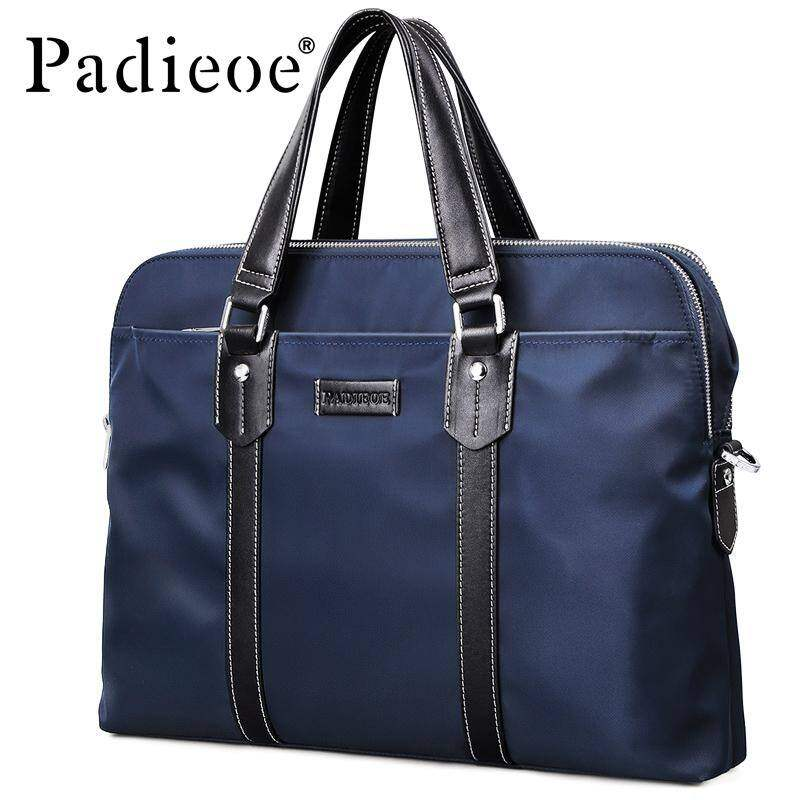 GladBuy Padieoe Style Men Briefcase Luxury Brand Mens Notebook File Bag Fashion Mens Large Capacity Waterproof Brifcase