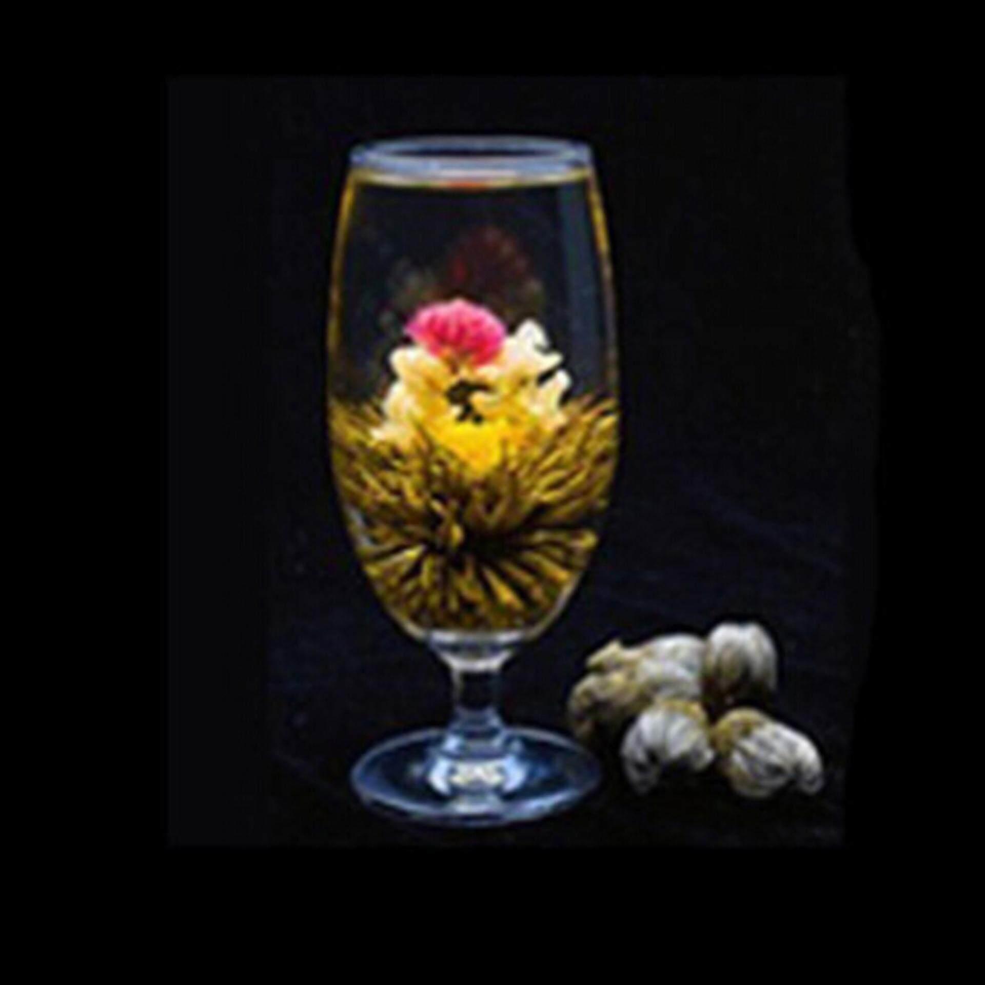Hot Stylish Special Balls Handmade Blooming Flower Green Tea Gift - intl