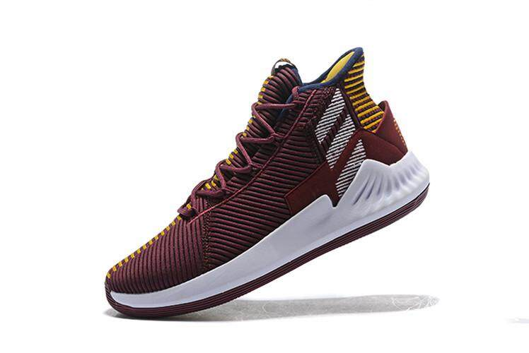 Brand Adīdas Official Derrick Rose D Rose 9 Mid Top Discounted Men's Basketaball Shoe Magenta Gold