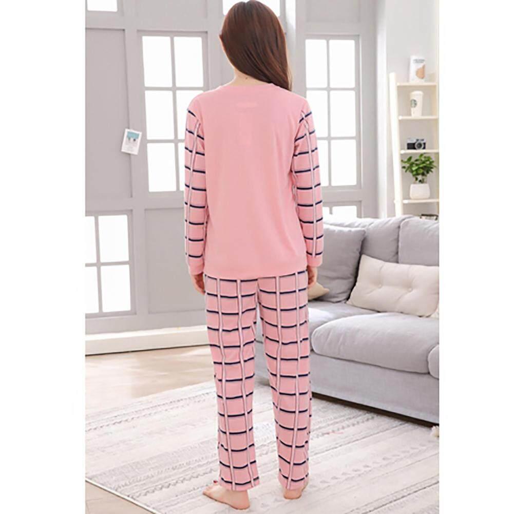 4f43aeada Autumn Comfortable Cotton Fabric Cartoon Cute Animal Long-Sleeved Pajamas  Set Practical Durable Home Service Set
