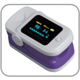 MU Finger Oximeter Oxygen Saturation Detector Pulse Monitor Householdrefers To Measuring Heart Clip - Heart Rate Meter Violet