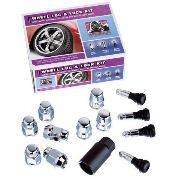 Gorilla Automotive 91904XLHT Acorn Bulge Extra Long Heat Treated Wheel Installation Kit (14mm x 2.00 Thread Size) - For 6 Lug Wheels