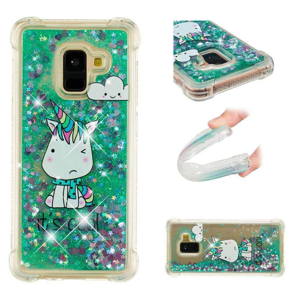 b5771d41430c92 Product details of Maxlaber Case For Samsung Galaxy A8 2018 Liquid Flowing  Quicksand Bling Glitter Diamond TPU Soft Case. Shockproof ...