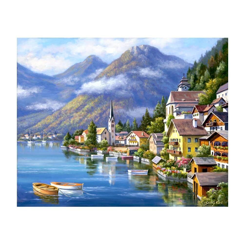 Oqcvljiae Beautiful Country 5D Diamond DIY Painting Home Decor Craft