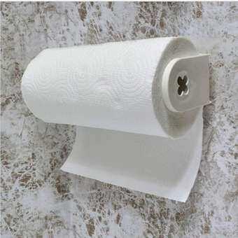 9.25'' Sucker Tissue Paper Towel Roll Holder Rack Over Door Kitchen Mounted PP-