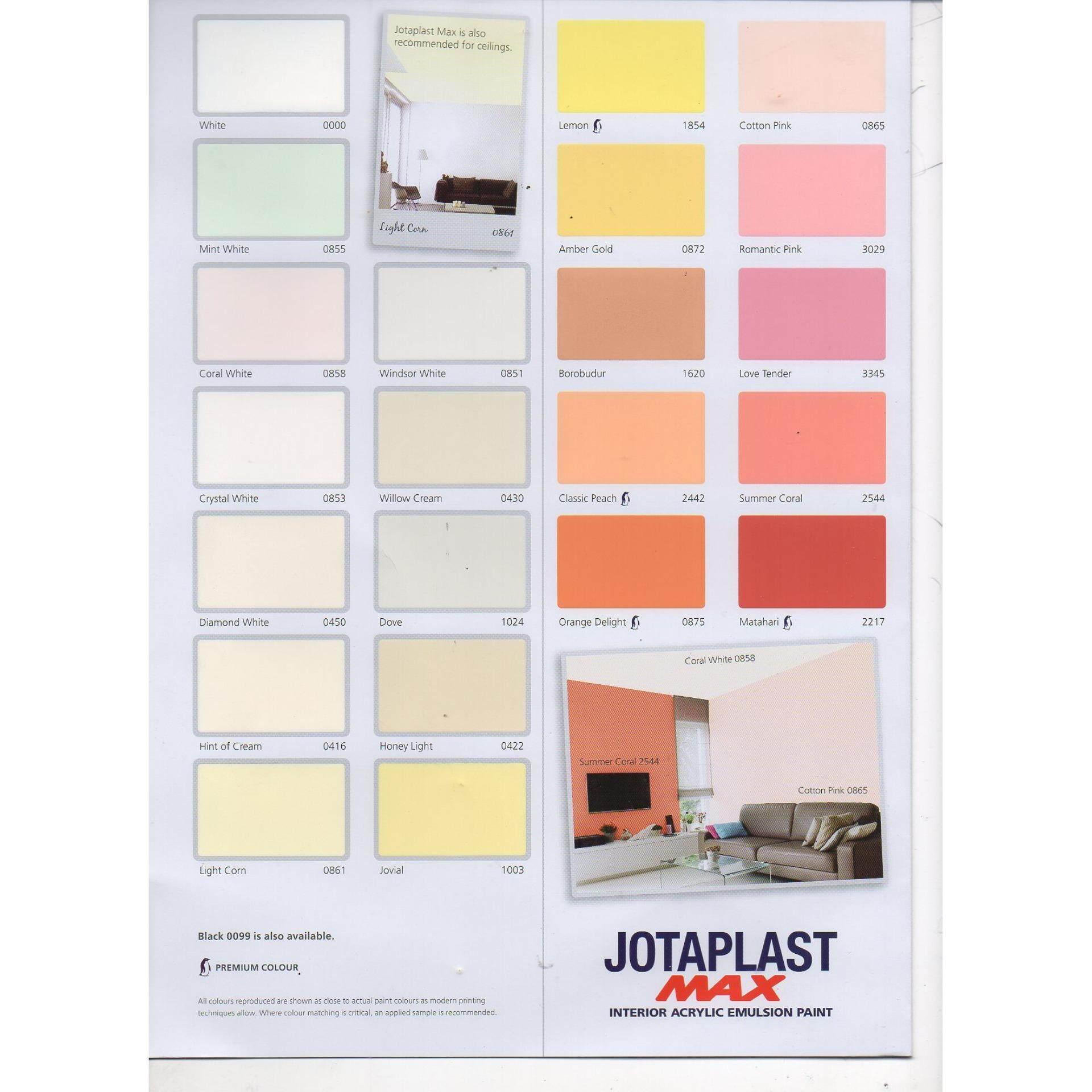LittleThingy Jotun Jotaplast Max 18L White 000, Interior Acrylic Emulsion  Paint