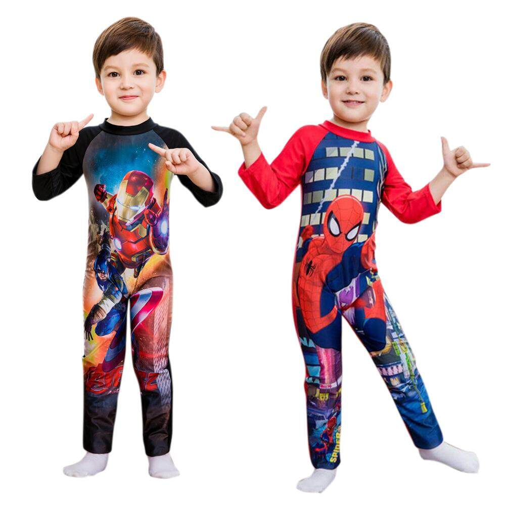 4800a2cb1c Product details of Cartoon Boy Kids Swimsuit Baby Swimming Suit Long  Sleeved Swimwear for 3-12 years