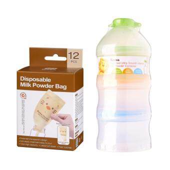 Simba Disposable Milk Powder Bag - 12pcs + Patented Ultra Smooth Interior Milk Powder Container