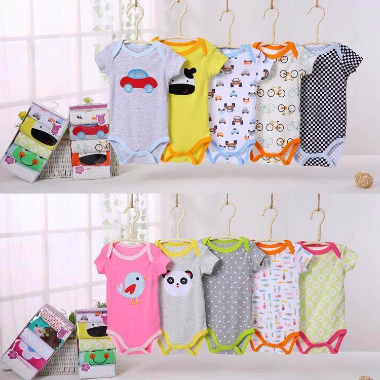 [READYSTOK Malaysia]5pcs Carter's Baby Romper Set Clothe Clothing (random design)