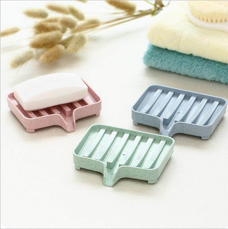 epayst【clearance sale+ready stock】PP Plastic Soap Dish Holder Rack with Drainage Frame Design Bathroom Toilet Organizer