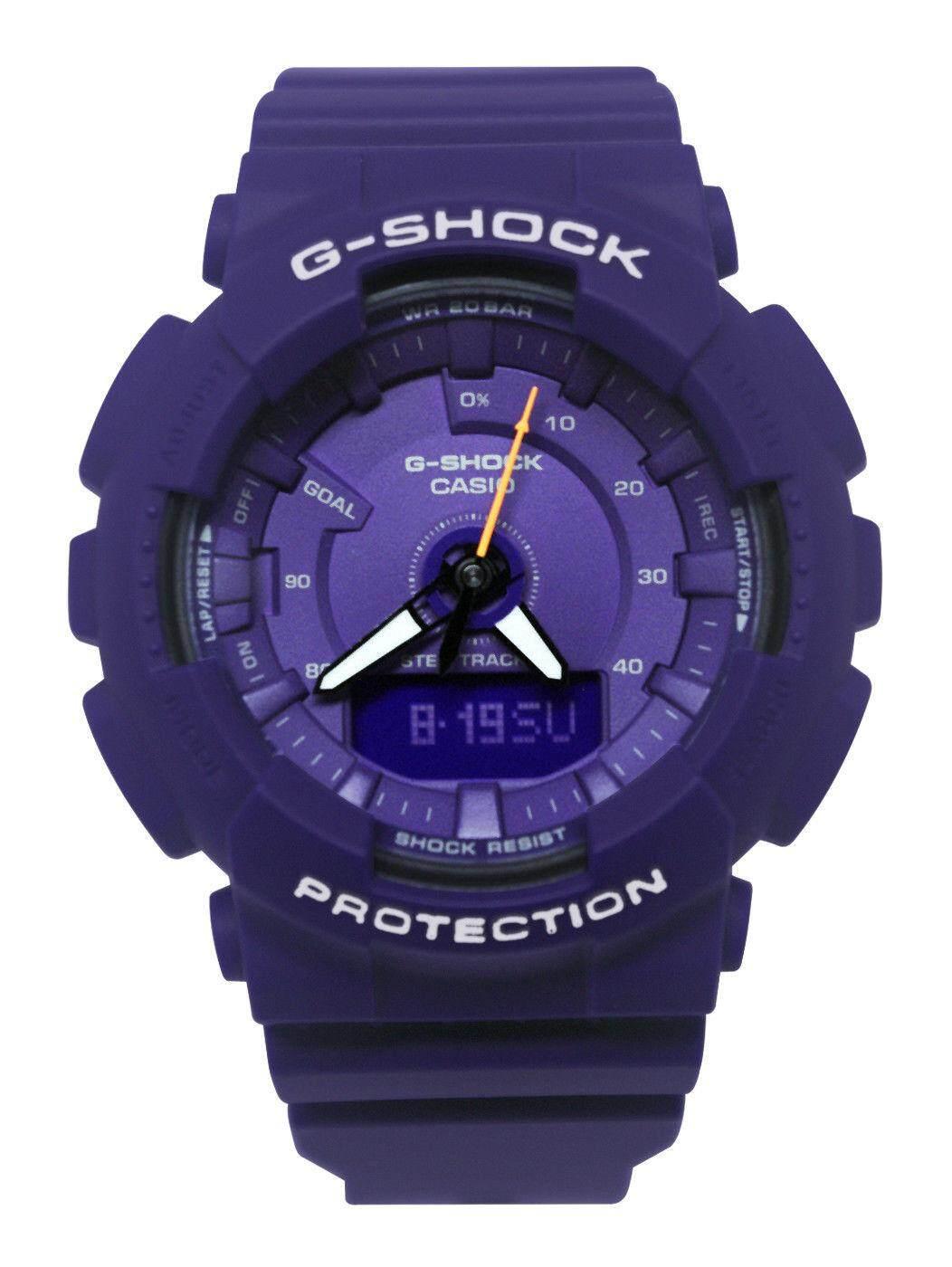 มหาสารคาม 【 STOCK】Original _ Casio_G-Shock S-Series GMAS130 Duo W/เวลา 200M กันน้ำกันกระแทกและกันน้ำโลกเครื่องมือวัดจำนวนก้าวกีฬานาฬิกา LED ไฟเปิดปิดอัตโนมัติ Wist นาฬิกากีฬาสำหรับ