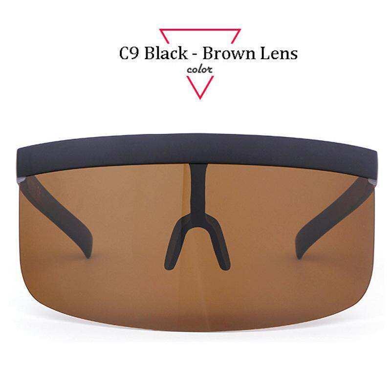 bff5f6a5770 Aloz Micc Women Oversize Shield Visor Sunglasses Women Retro Windproof Glasses  Men Shield Visor Flat Top