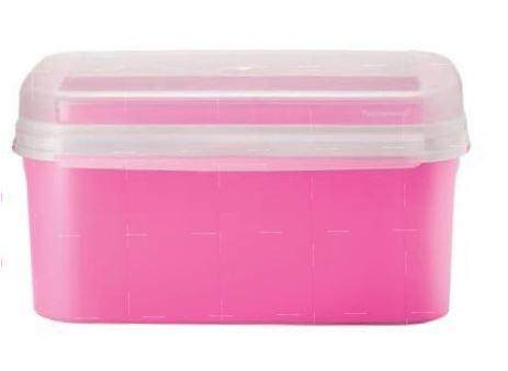 Tupperware Ezy Rect Keeper (1) 4.3L - pink
