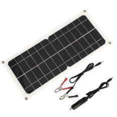 Tấm pin năng lượng mặt trời Máy Phát Điện Năng Lượng Mặt Bền 12 v 10 wát USB + Cổng DC + tặng Cốc Sạc Xe Hơi Năng Lượng Mặt Trời Du Lịch- quốc tế