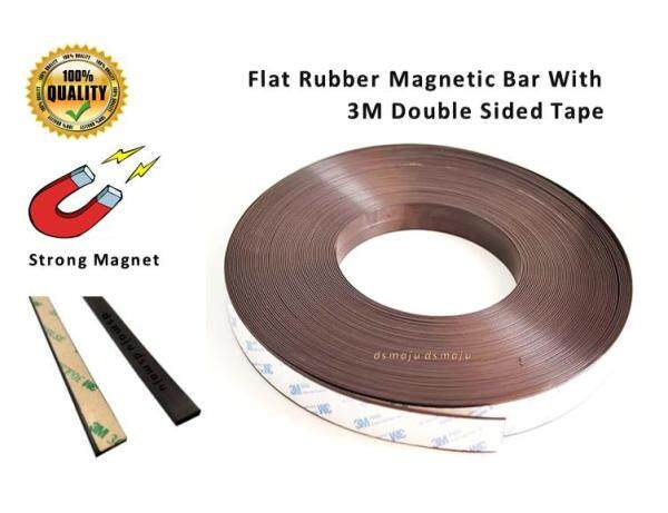 Strong Rubber Magnetic Bar Self Adhesive Magnetic Bar with 3M Double Sided Tape Insect Screen Magnet Catch 带胶磁条