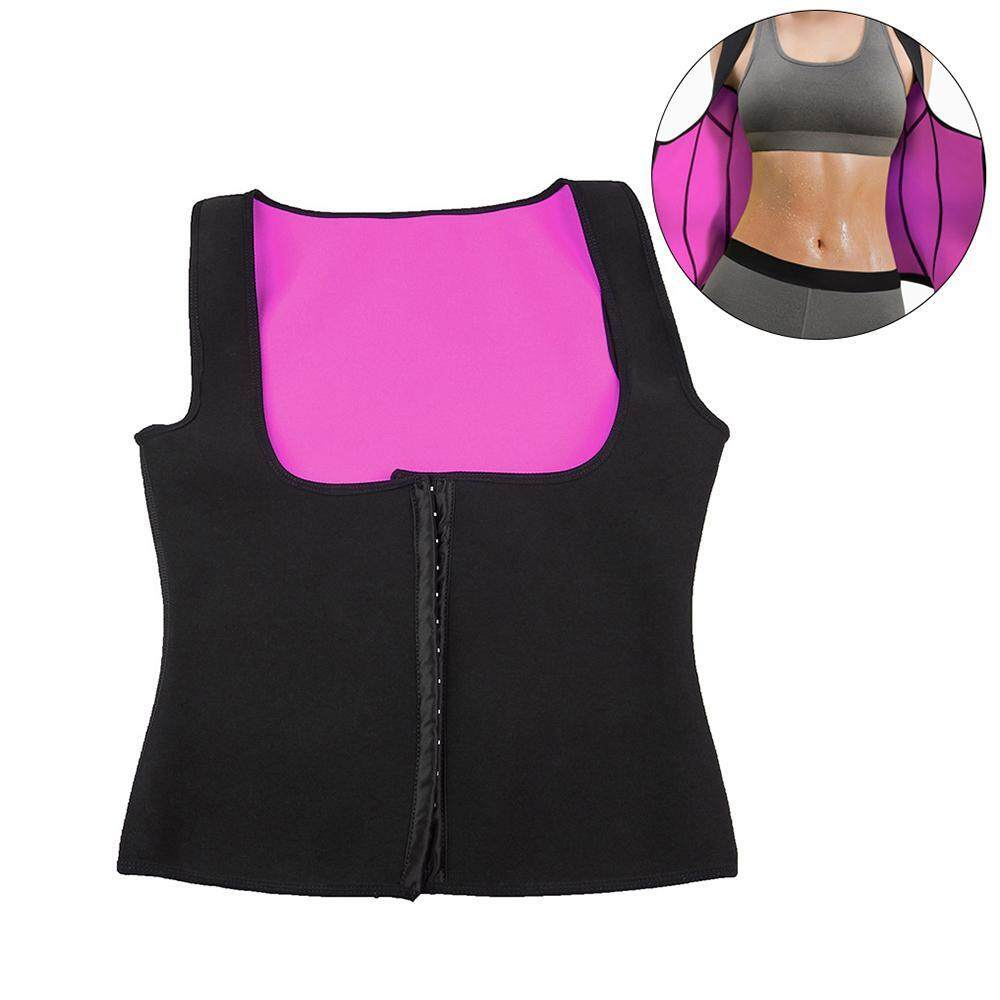 GoodGreat Upgraded Women's Neoprene Sauna Sweat Waist Training Vest Zipper Weight Loss Gym Exercise Body Shaping Vest Shirt