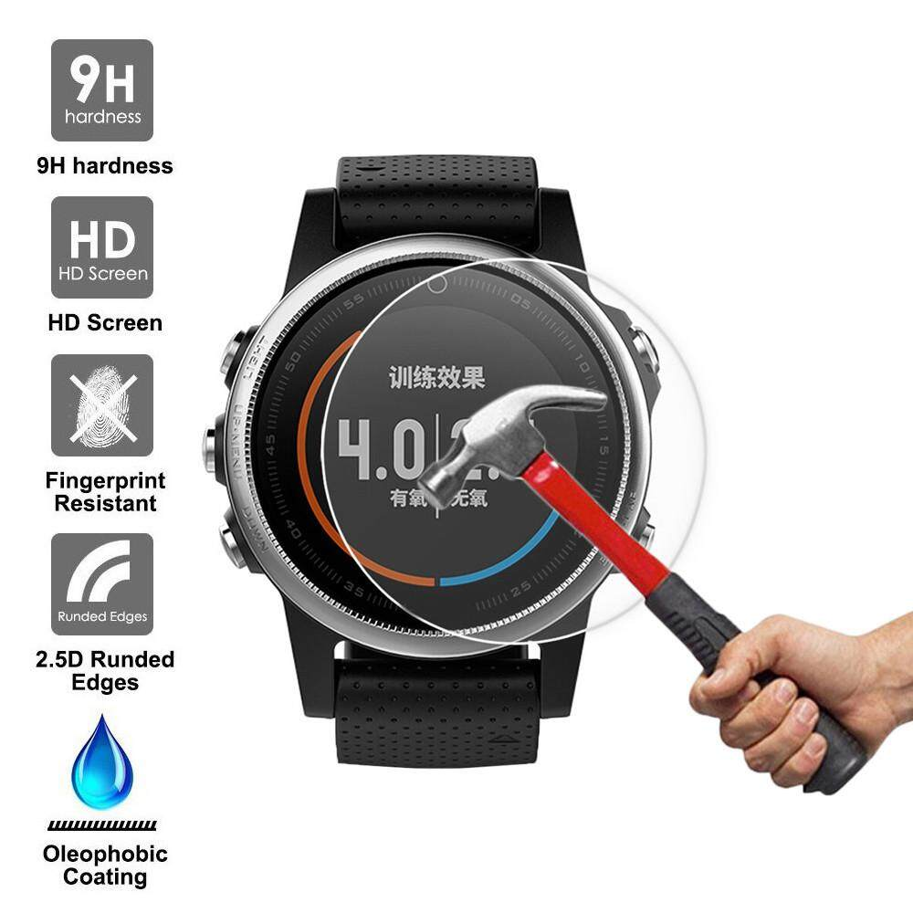 Qyshop 9H Tempered Glass Screen Protector Protective Film for Garmin Fenix 5S GPS Watch
