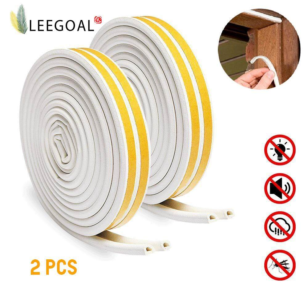 10 m Foam Draught Excluder Weather Strip Tape Weatherstrip Weather Seals for Window Door Sealing 3 mm, White