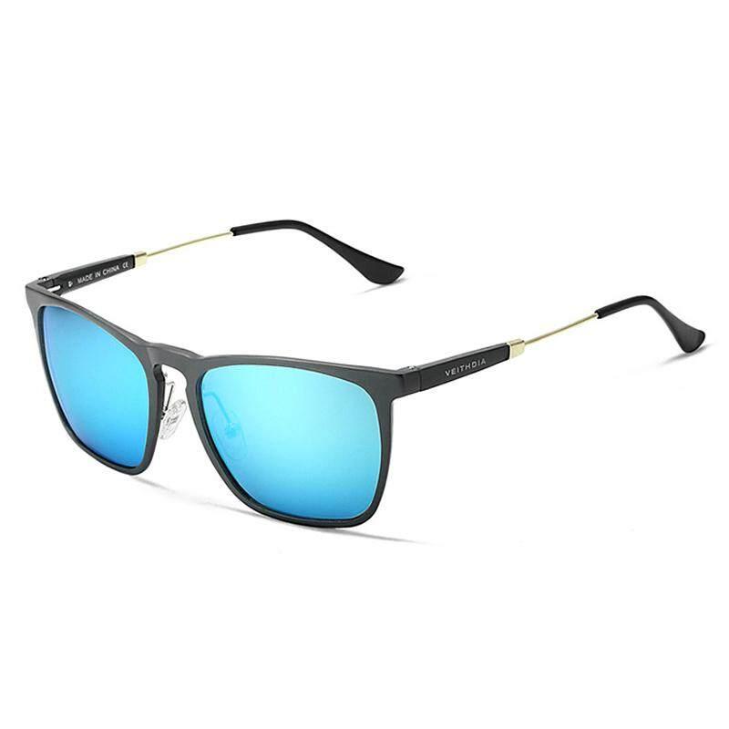VEITHDIA VT6368 2017 Terpolarisasi Antik Kacamata Hitam Pria Modis Merek Desain Persegi Matahari Kacamata Gafas Oculos