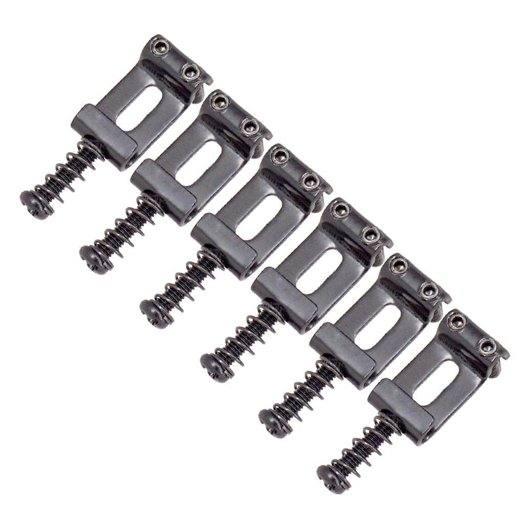 BolehDeals 6Pcs Electric Guitar Saddles String Fits Locking Tremolo Trem Bridge -Black | Lazada