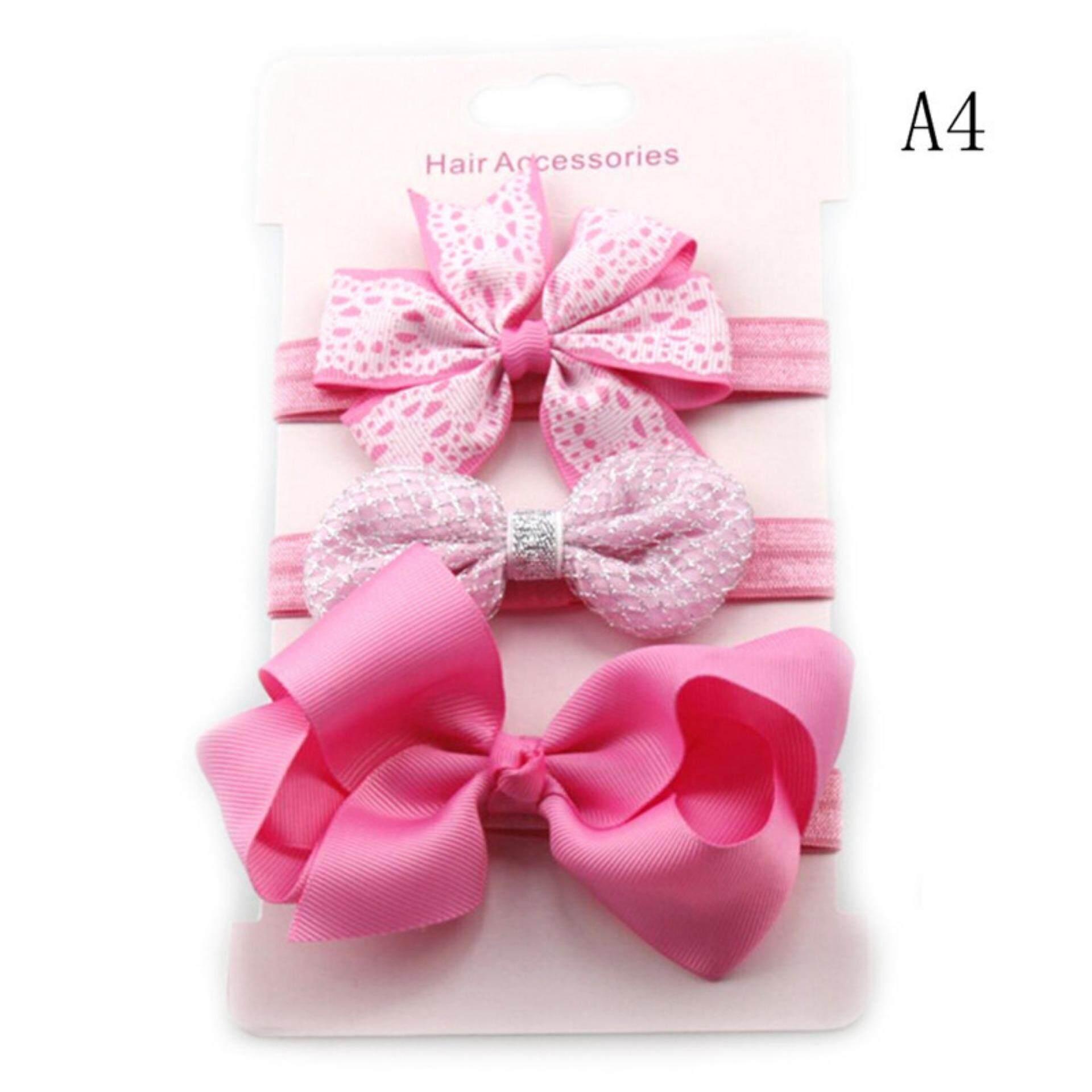 10pcs//Set Baby Girl Headband Ribbon Elastic Headdress Kids Newborn Hair Band Bow