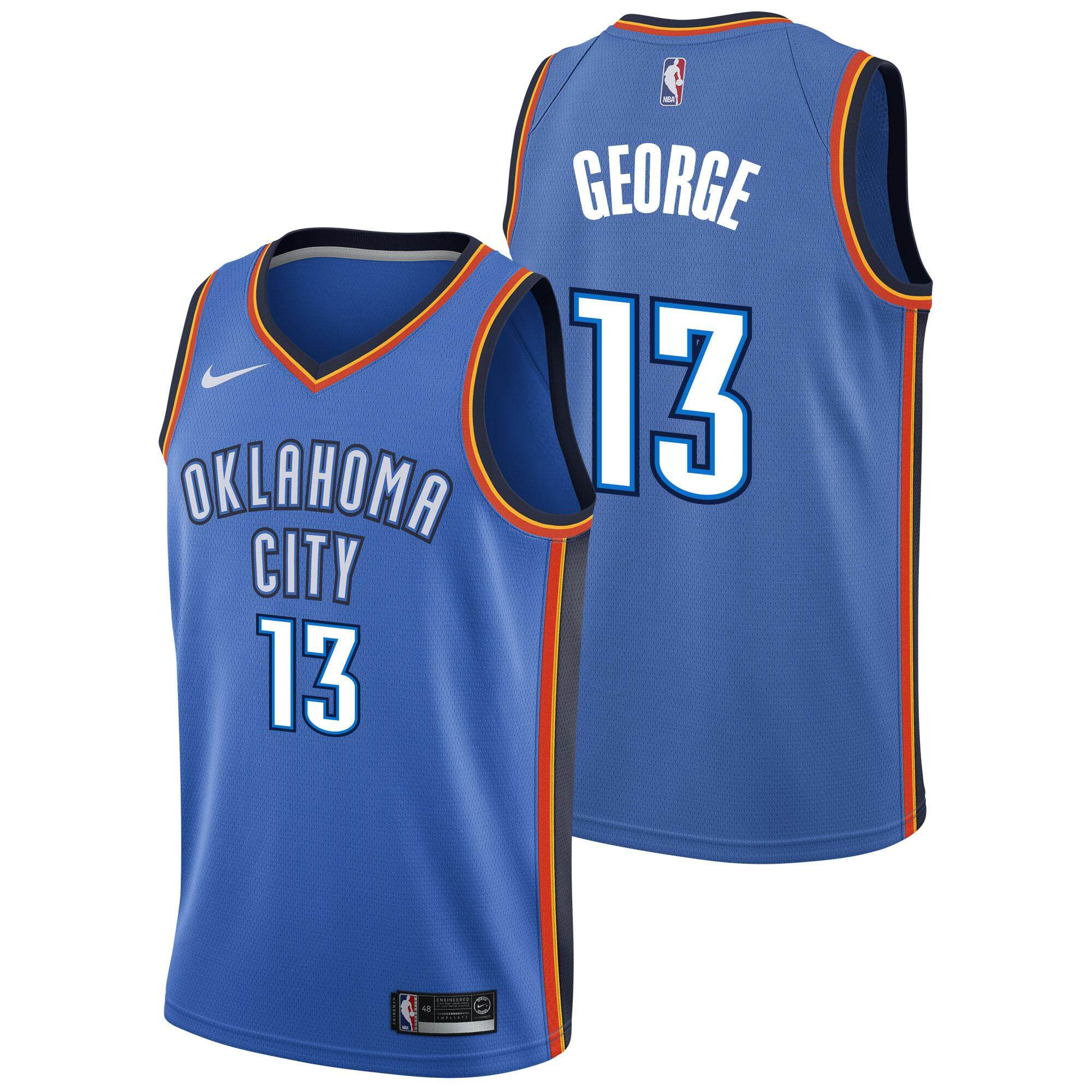 d3758be3cb90 Product details of For Man Basketball Clothes Swingman Jersey Number 13  Oklahoma City Thunder Paul George Official Fashion Authentic Grey City  Edition Int S