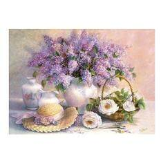5D Diamond Embroidery Flower Painting Cross Stitch Craft Home Decor (Purple)