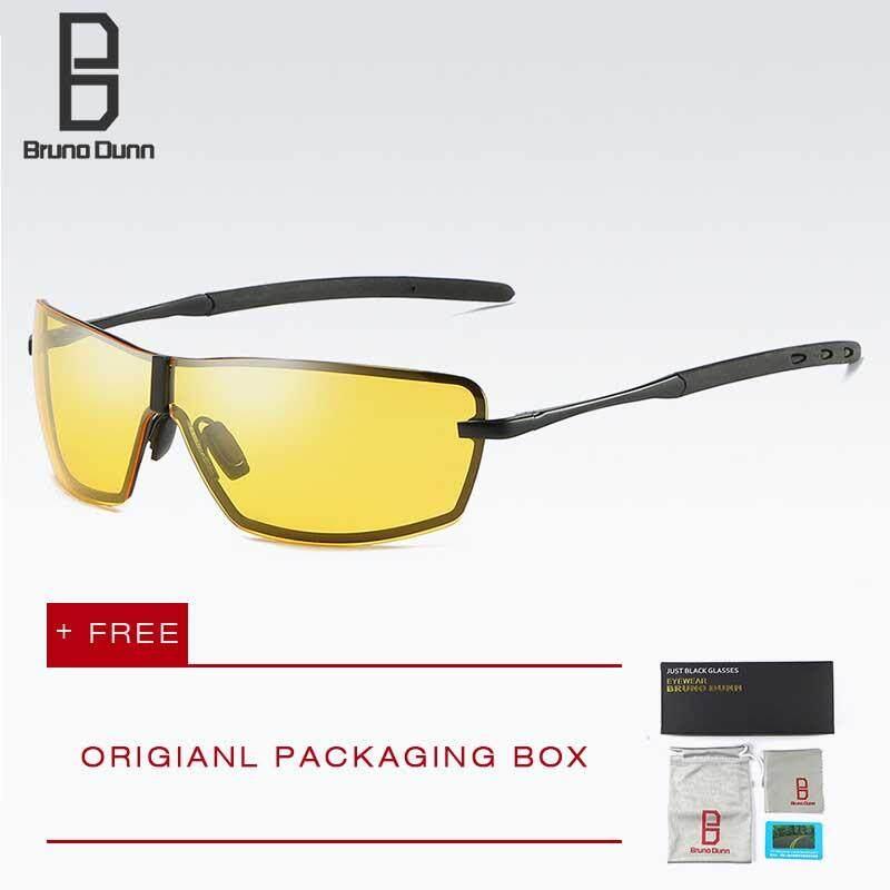 Bruno Dunn 2018 New Brand Men's Driving Mirror Polarized Sunglasses UV Protection Sun glasses For Men 533
