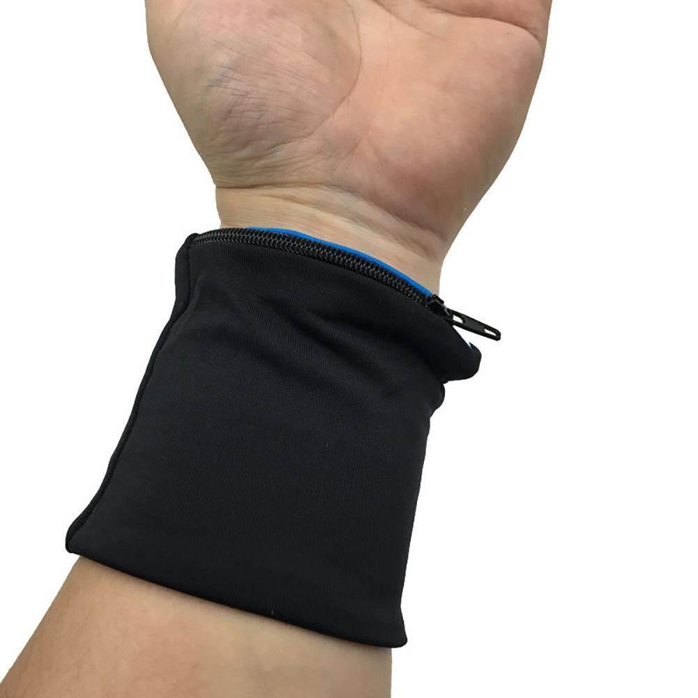 Elastis Ritsleting Pergelangan Tangan Dukungan Tas Tali Pembungkus  Kebugaran Bersepeda Gelang Olahraga Bola Voli Gelang Handuk cb9a306513