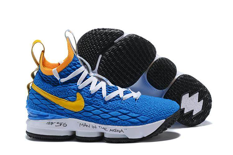 huge selection of 5a7f1 65d09 Discount Nike  LeBron 15 Comfortable Basketball Shoe Lightweight Running  Shoe (Blue Yellow)