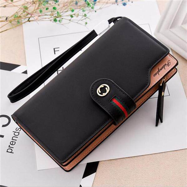 Luxury Woman PU Leather Mobile Phone Wallet Candy Color Women Credit Card Holder Womens Wallets and Purses for Iphone 6S 7