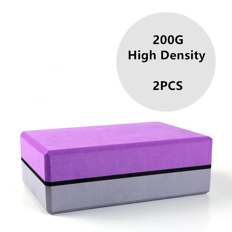 2PCS Yoga Blocks High Density Yoga Pilates EVA Foam Block to Support and  Deepen Poses Improve Strength and Aid Balance and Flexibility