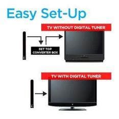 Clear TV Key HDTV FREE TV Digital Indoor Antenna Ditch Cable As Seen on TV US EU 1080p