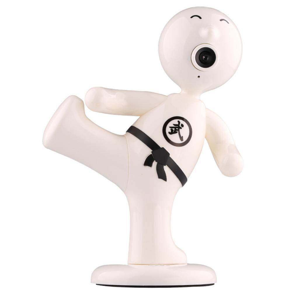 JIALIPIGES 360 Degree Rotating Chinese Kung Fu Boy HD Webcam Camera Notebook PC Laptop Computer - White - intl