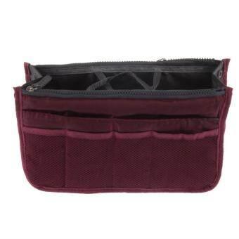 zeawhc Handbag Pouch Bag in Bag Organiser Insert Organizer Tidy Travel Cosmetic Pocket (Wine Red)