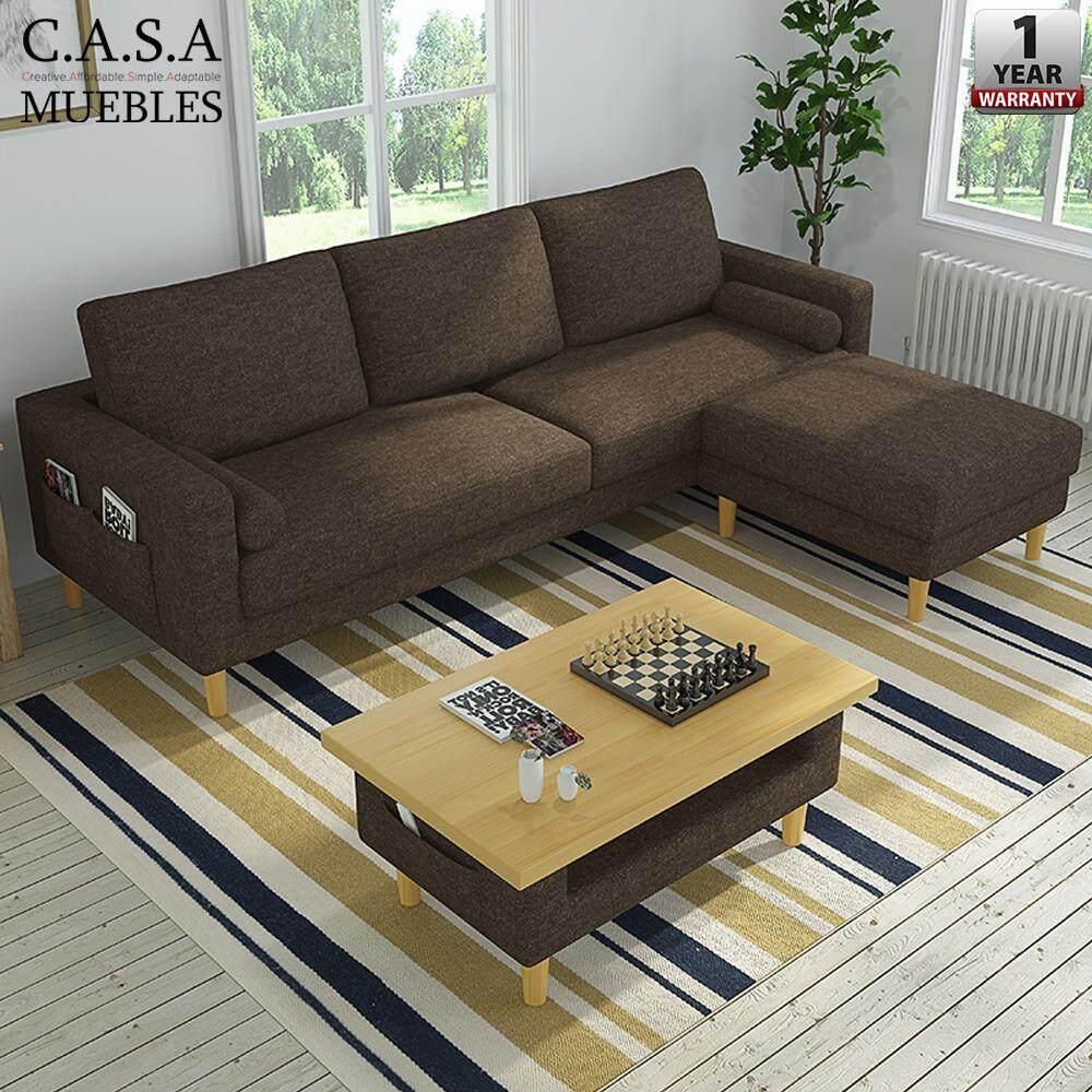 Casa Muebles A Macaron Design 3 Seater Durable Velvet Sofa And