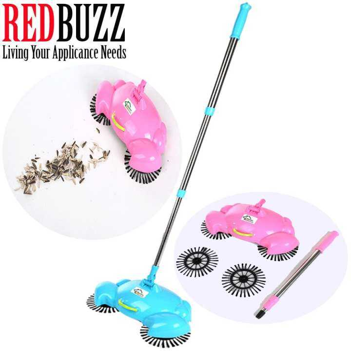 Redbuzz Crab Design Fully Automatic Hand Push Sweeping