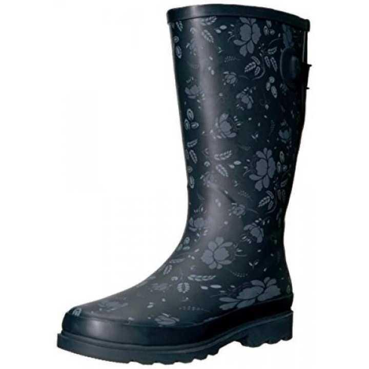 Western Chief Women Wide Calf Rain Boot, Slate Satin Finish, W 8 W Finish, US / From USA b75e1f