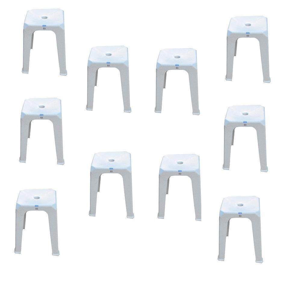 (OW) Toyogo Square Stool set of 10