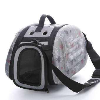 LightSmile สัตว์เลี้ยง EVA กระเป๋าเดินทางไหล่พับแบบพกพา Breathable กระเป๋ากลางแจ้ง (S/M/L)-