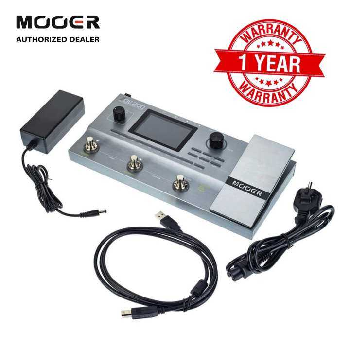 Mooer GE200 Amp Modelling Multi Effects Guitar Effect Pedal + Adapter