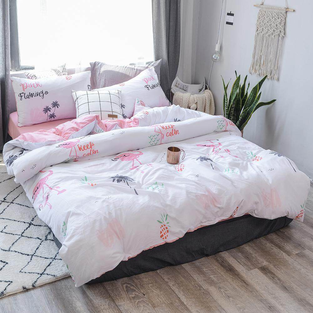 รีวิว leegoal Bedding Gifts Cotton Sheets Quilts Sheets Three-piece Sets 1.2m