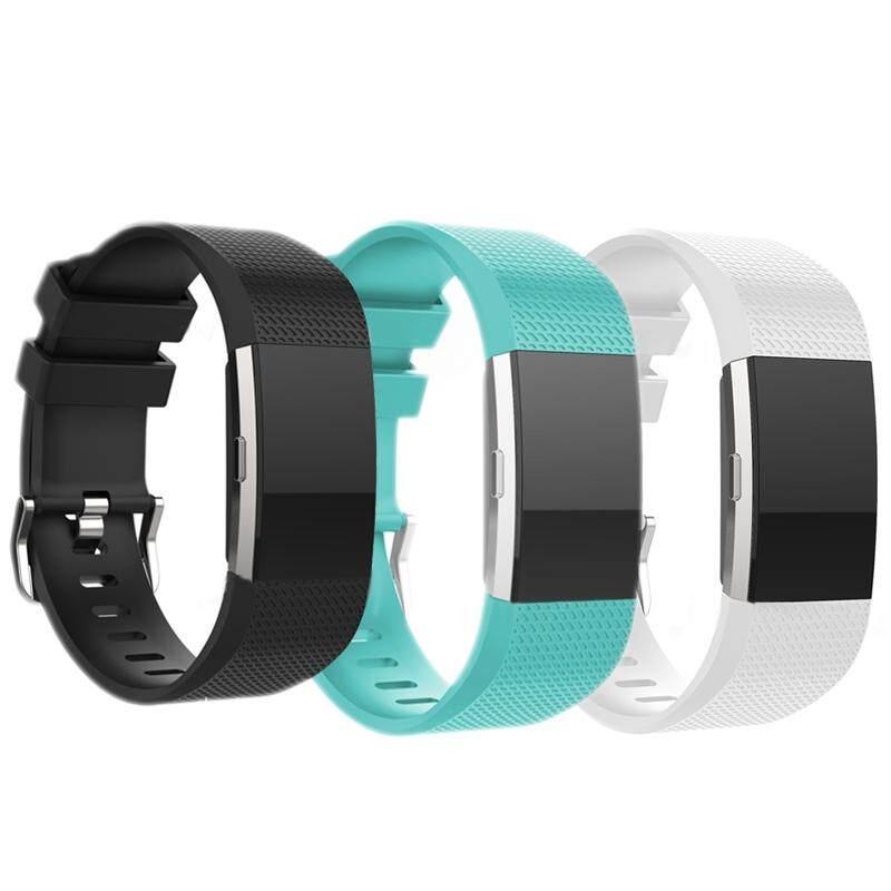 Outops 3 cái/bộ Dây Đeo Thay Thế cho Vòng Đeo Sức Khỏe Fitbit Charge 2 Ban Nhạc Dây Đeo Silicone