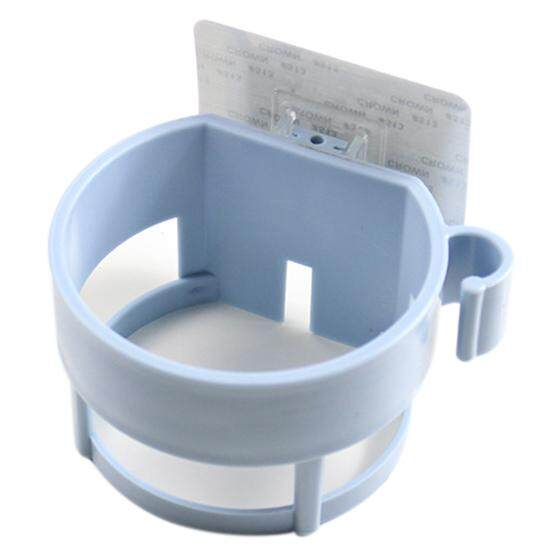 Seamless Sticker Storage Holder Seamless Bathroom Shelf Seamless Tray Hair Dryer Rack Nordic Blue