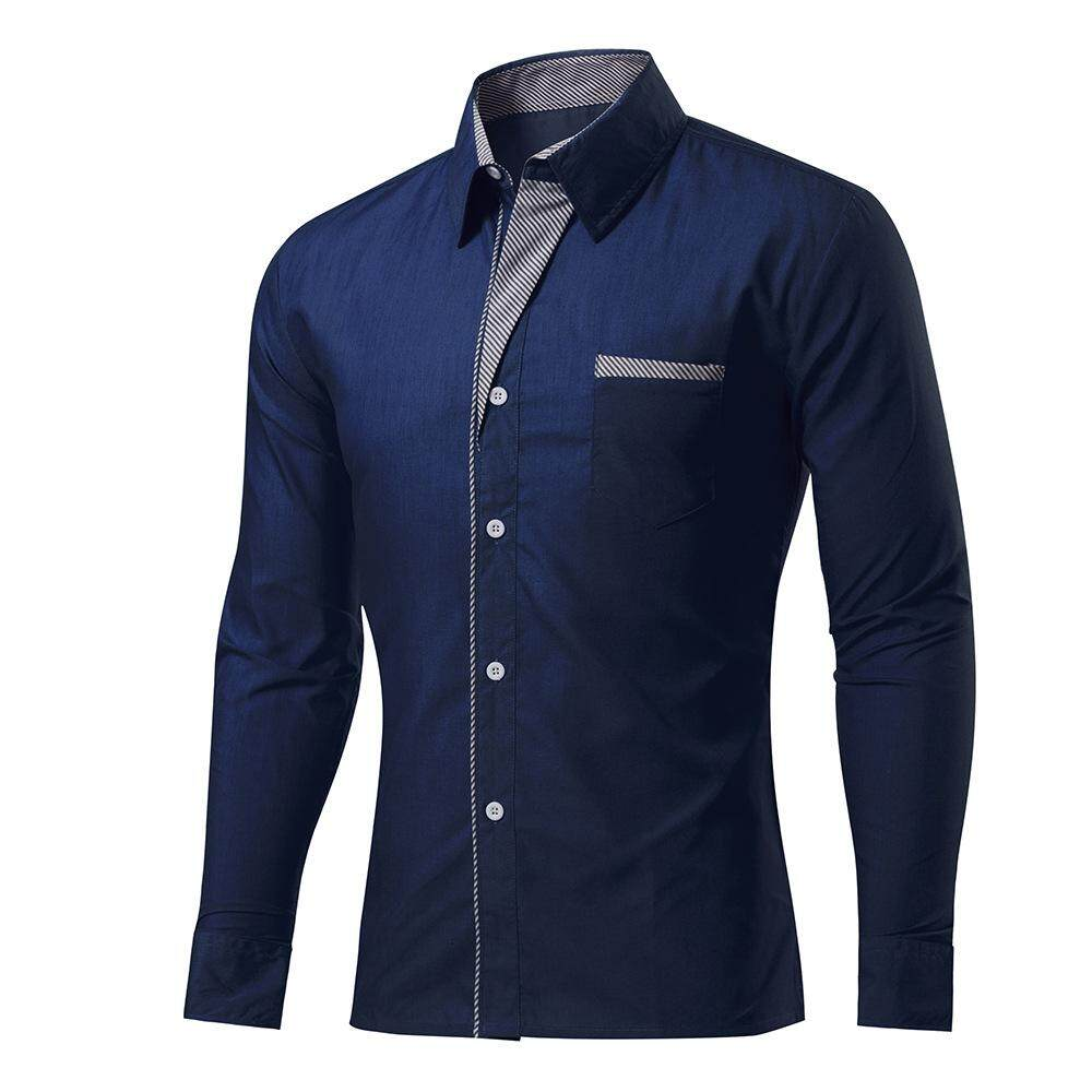 90b24ed04e Product details of 2018 New Arrival Fashion 15 Colors Long Sleeve Shirt Men  Korean Slim Design Formal Casual Asian Size Mens Business Shirt - intl